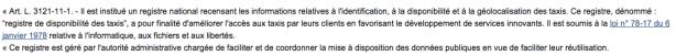 loi taxi Article 1